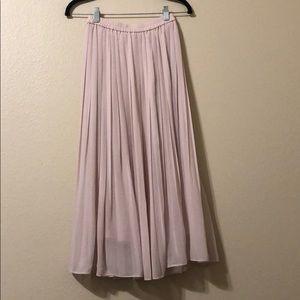 Uniqlo pleated midi maxi skirt sz S